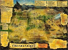 Game map for Tir Na Nog on the Sinclair ZX Spectrum.
