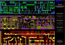 Game map for Total Recall on the Amstrad CPC.