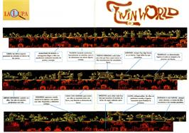 Game map for TwinWorld: Land of Vision on the Amstrad CPC.