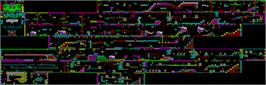Game map for Underground on the Sinclair ZX Spectrum.