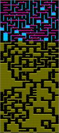 Game map for Underwurlde on the Commodore 64.