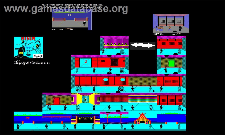 Game map for Ninja on the Sega Master System.