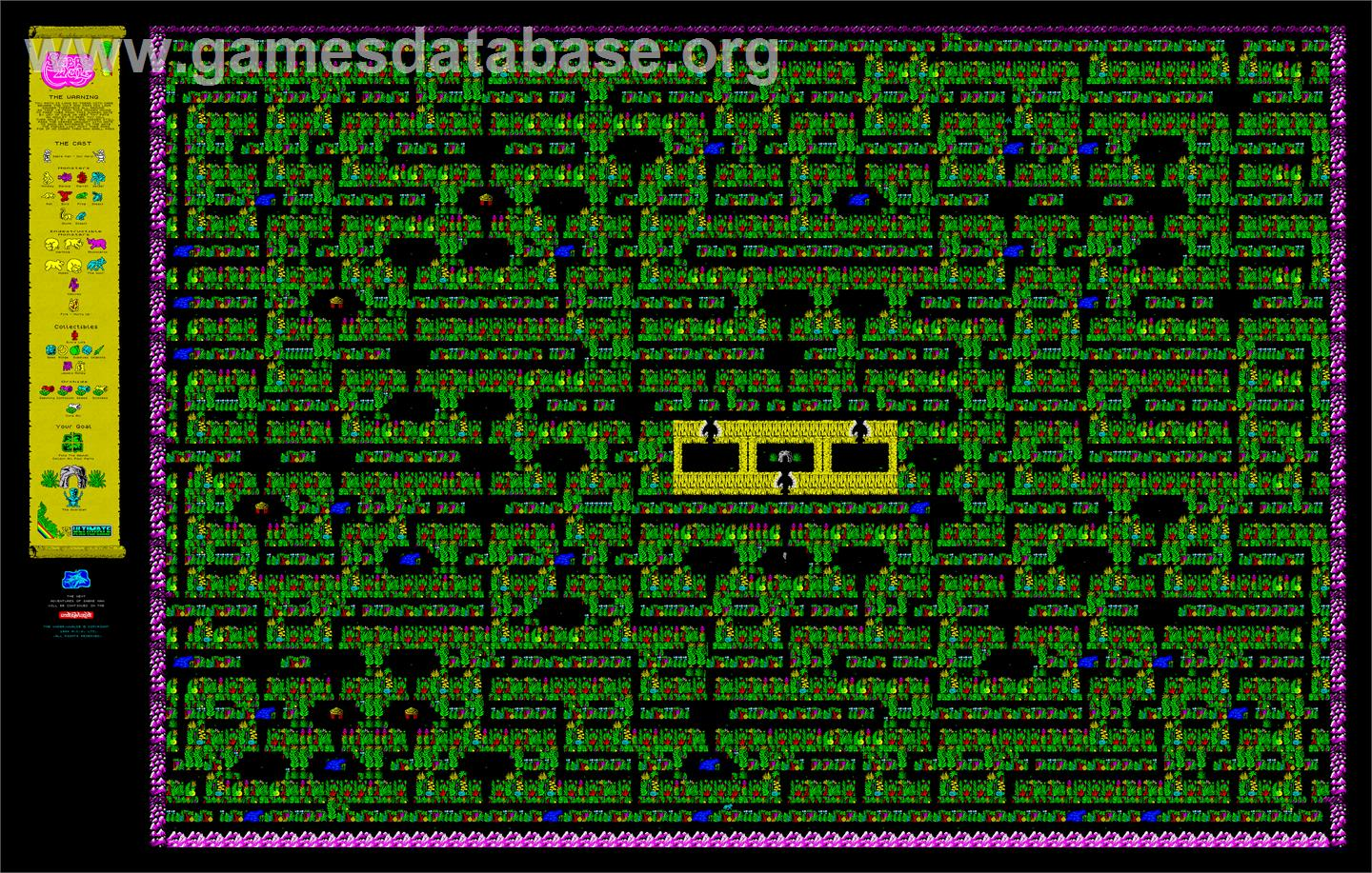 Sabre Wulf - Sinclair ZX Spectrum - Artwork - Map on