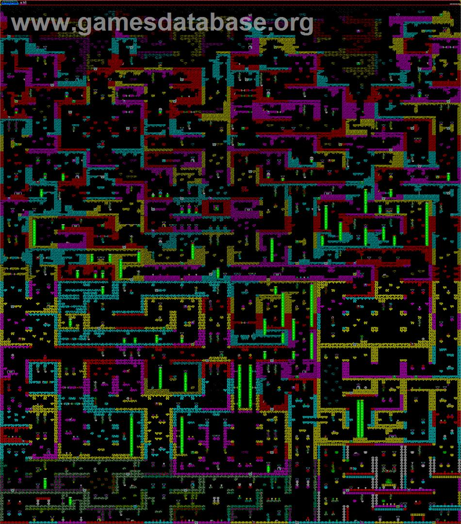 Starquake - Sinclair ZX Spectrum - Artwork - Map on