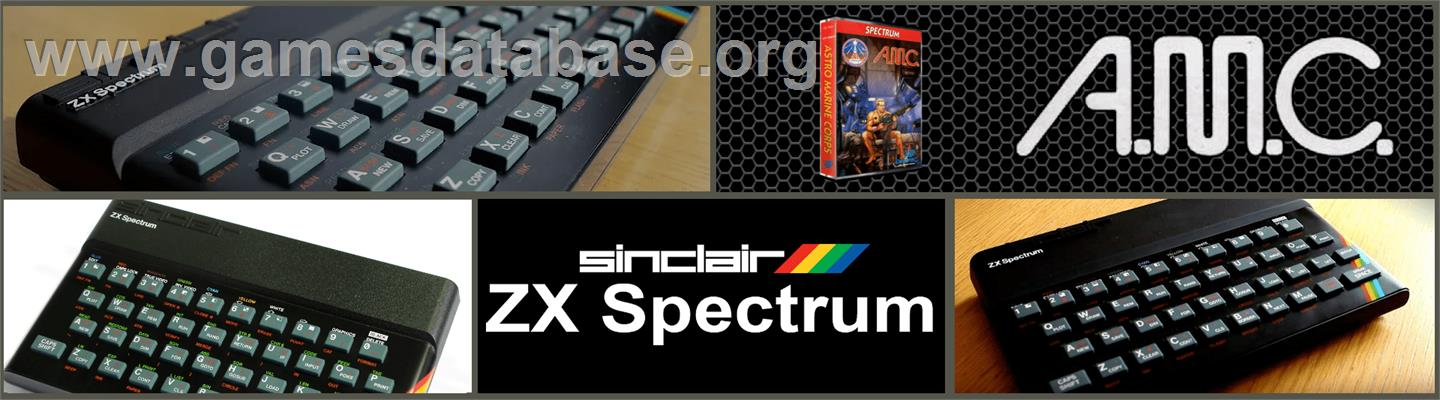 A.M.C.: Astro Marine Corps - Sinclair ZX Spectrum - Artwork - Marquee