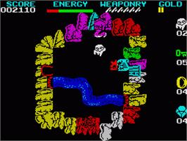 In game image of 10 Computer Hits 2 on the Sinclair ZX Spectrum.
