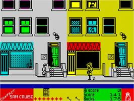In game image of 10 Computer Hits 4 on the Sinclair ZX Spectrum.