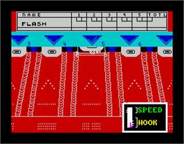 In game image of 10th Frame on the Sinclair ZX Spectrum.