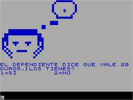 In game image of 13 Rue del Percebe on the Sinclair ZX Spectrum.