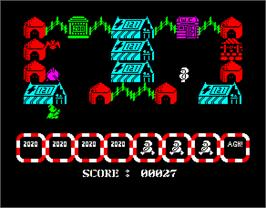 In game image of 2020 Vision on the Sinclair ZX Spectrum.