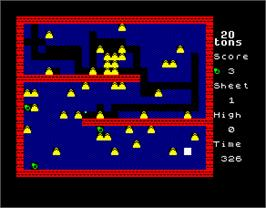In game image of 20 Tons on the Sinclair ZX Spectrum.