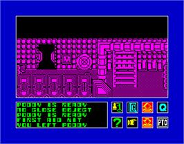 In game image of 2112 AD on the Sinclair ZX Spectrum.
