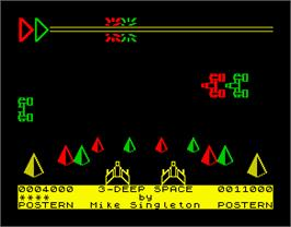 In game image of 3-Deep Space on the Sinclair ZX Spectrum.