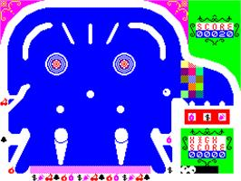 In game image of 3D-Pinball on the Sinclair ZX Spectrum.