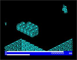 In game image of 3DC on the Sinclair ZX Spectrum.