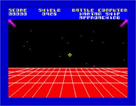 In game image of 3D Defenda on the Sinclair ZX Spectrum.