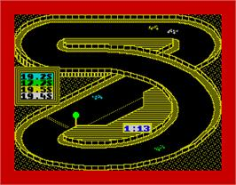 In game image of 3D Grand Prix Championship on the Sinclair ZX Spectrum.