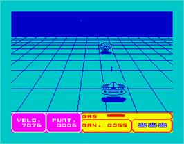 In game image of 3D Interceptor on the Sinclair ZX Spectrum.