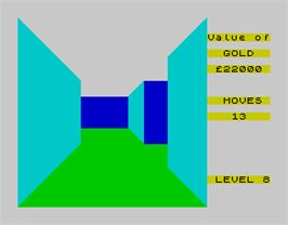 In game image of 3D Maze of Gold on the Sinclair ZX Spectrum.