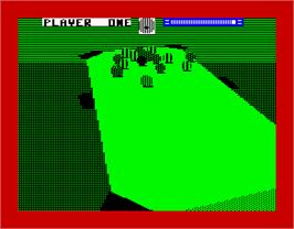 In game image of 3D Pool on the Sinclair ZX Spectrum.