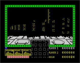 In game image of 3D Seiddab Attack on the Sinclair ZX Spectrum.