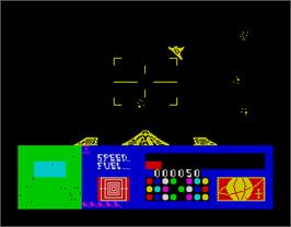 In game image of 3D Space Wars on the Sinclair ZX Spectrum.
