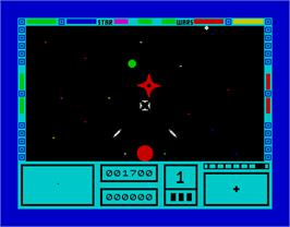 In game image of 3D Star Wars on the Sinclair ZX Spectrum.