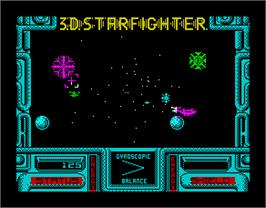 In game image of 3D Starfighter on the Sinclair ZX Spectrum.