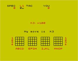 In game image of 3D Strategy on the Sinclair ZX Spectrum.