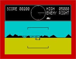 In game image of 3D Tank Duel on the Sinclair ZX Spectrum.