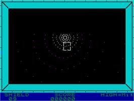 In game image of 3D Vortex on the Sinclair ZX Spectrum.