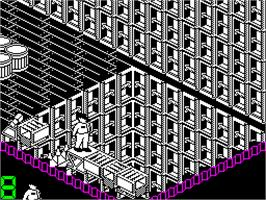 In game image of A.L.C.O.N. on the Sinclair ZX Spectrum.