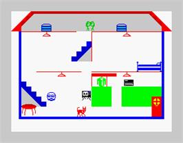 In game image of A Day In the Life on the Sinclair ZX Spectrum.