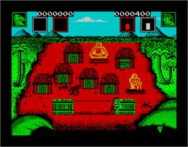 In game image of Aaargh! on the Sinclair ZX Spectrum.