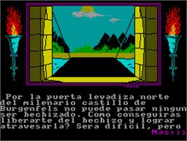 In game image of Abracadabra on the Sinclair ZX Spectrum.