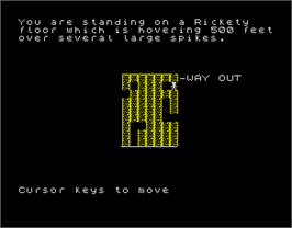 In game image of Abyss on the Sinclair ZX Spectrum.