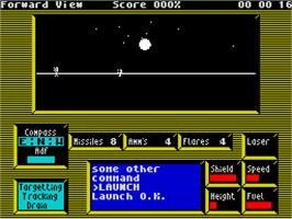 In game image of Academy: Tau Ceti II on the Sinclair ZX Spectrum.