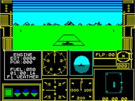 In game image of Acrojet on the Sinclair ZX Spectrum.