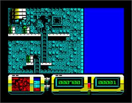 In game image of Action Force 2 on the Sinclair ZX Spectrum.