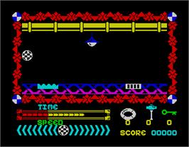 In game image of Action Reflex on the Sinclair ZX Spectrum.