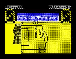 In game image of Advanced Ski Simulator on the Sinclair ZX Spectrum.