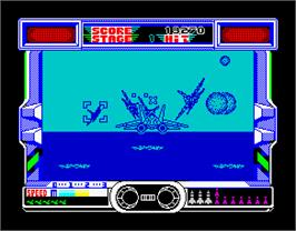 In game image of After Burner on the Sinclair ZX Spectrum.