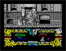In game image of After the War on the Sinclair ZX Spectrum.