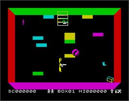 In game image of Ah Diddums on the Sinclair ZX Spectrum.