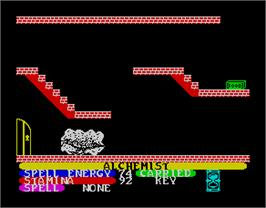 In game image of Alchemist on the Sinclair ZX Spectrum.