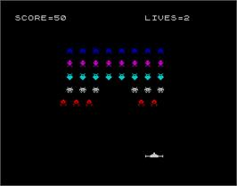 In game image of Alien on the Sinclair ZX Spectrum.