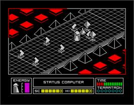 In game image of Alien Highway: Encounter 2 on the Sinclair ZX Spectrum.