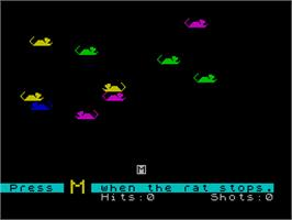 In game image of Alphabet Zoo on the Sinclair ZX Spectrum.