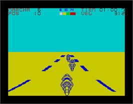 In game image of Angel Nieto Pole 500 on the Sinclair ZX Spectrum.