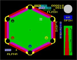 In game image of Angleball on the Sinclair ZX Spectrum.